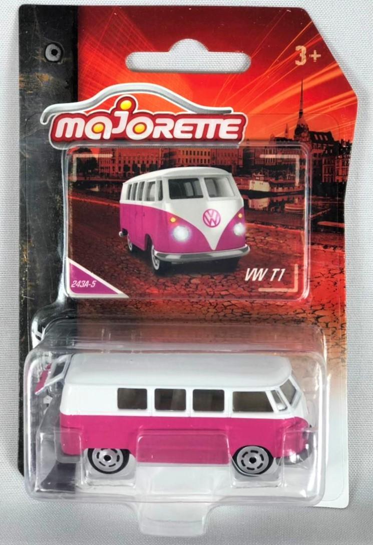 Miniatura Volkswagen Kombi T1 Rosa 1/64 Majorette