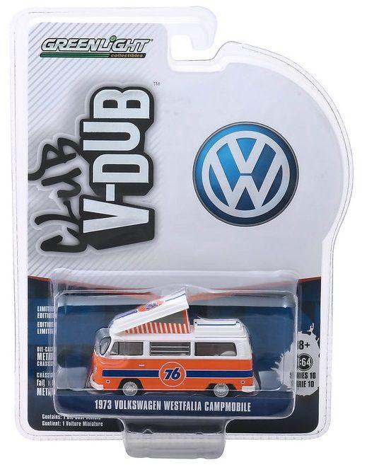 Miniatura Volkswagen Kombi Type 2 1973 V DUBS  1/64 Greenlight
