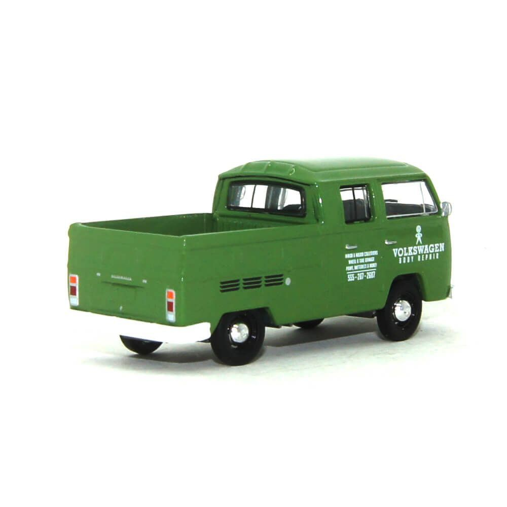 Miniatura Volkswagen Kombi Type 2 Cabine Dupla Pick Up 1975 1/64 California Collectibles