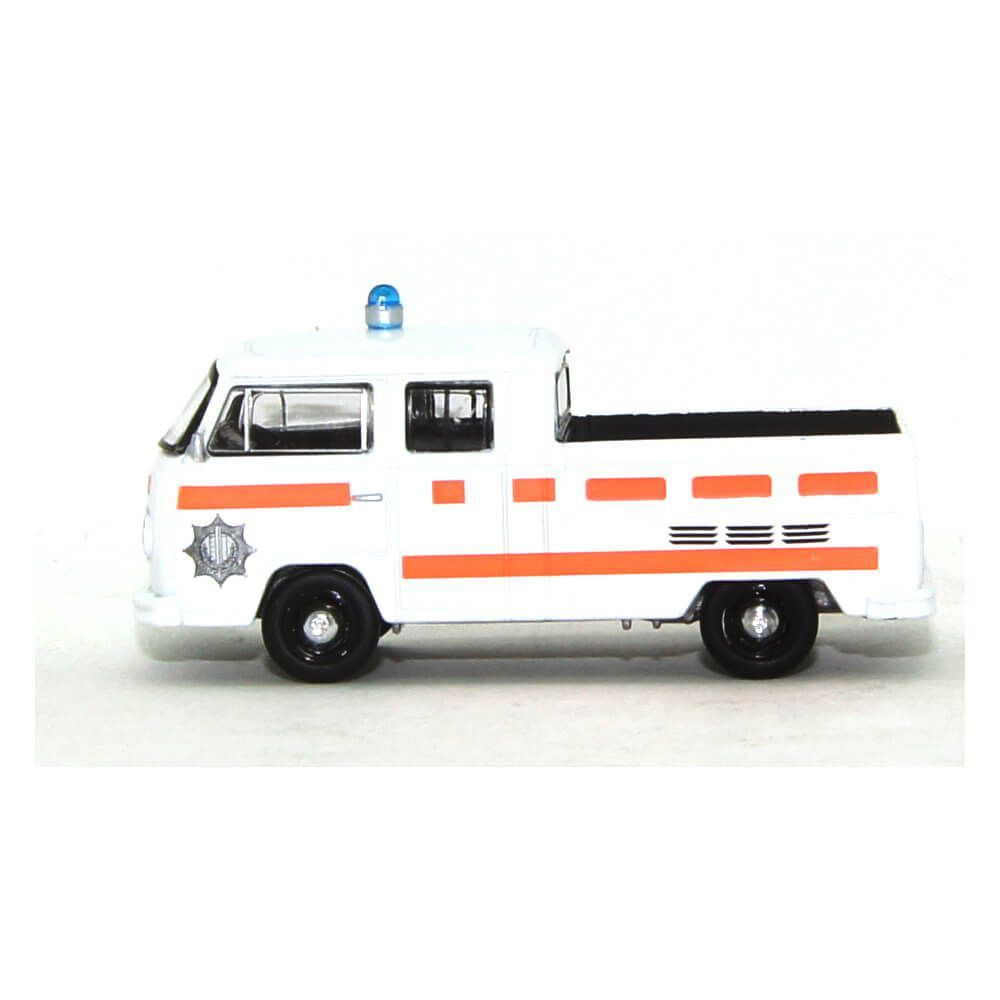 Miniatura Volkswagen Kombi Type 2 Cabine Dupla Pick Up 1977 1/64 California Collectibles