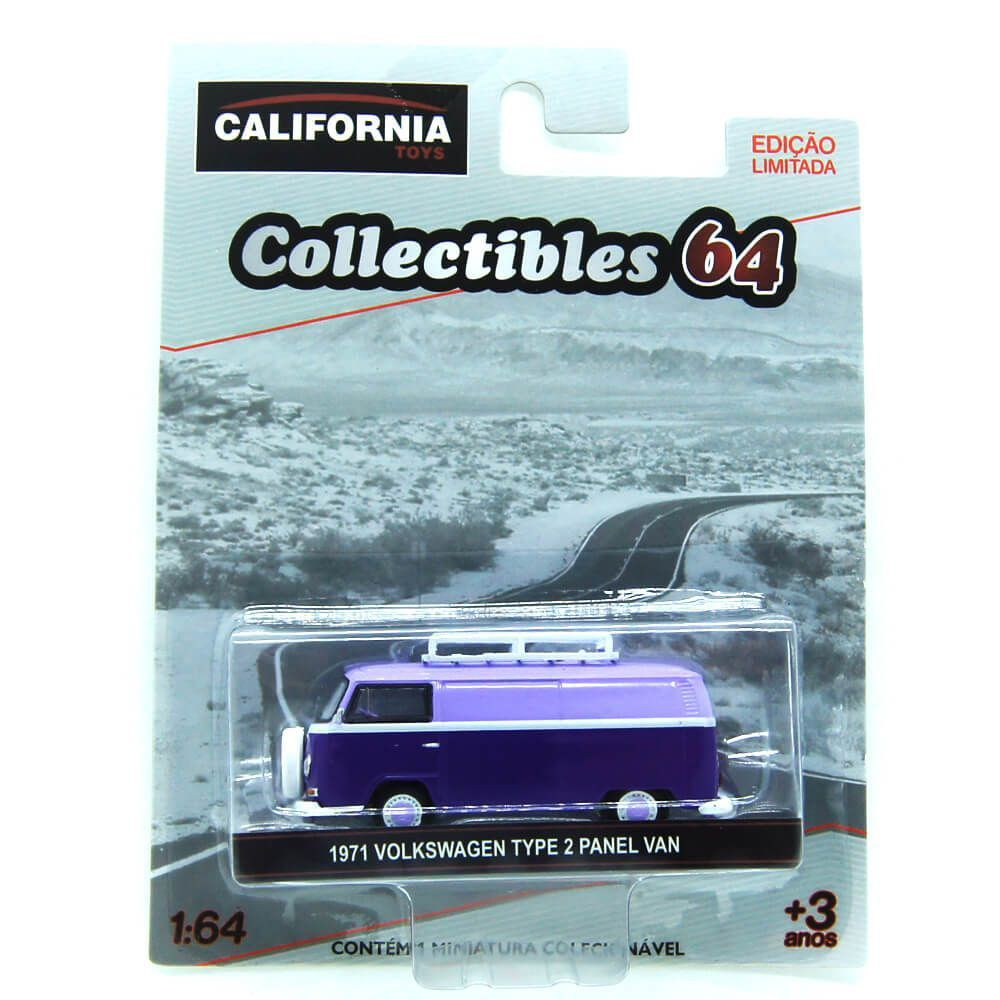 Miniatura Volkswagen Kombi Type 2 Panel Van 1971 1/64 California Collectibles