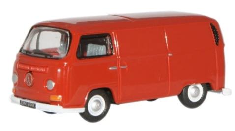 Miniatura Volkswagen Kombi Van Red 1/76 Oxford