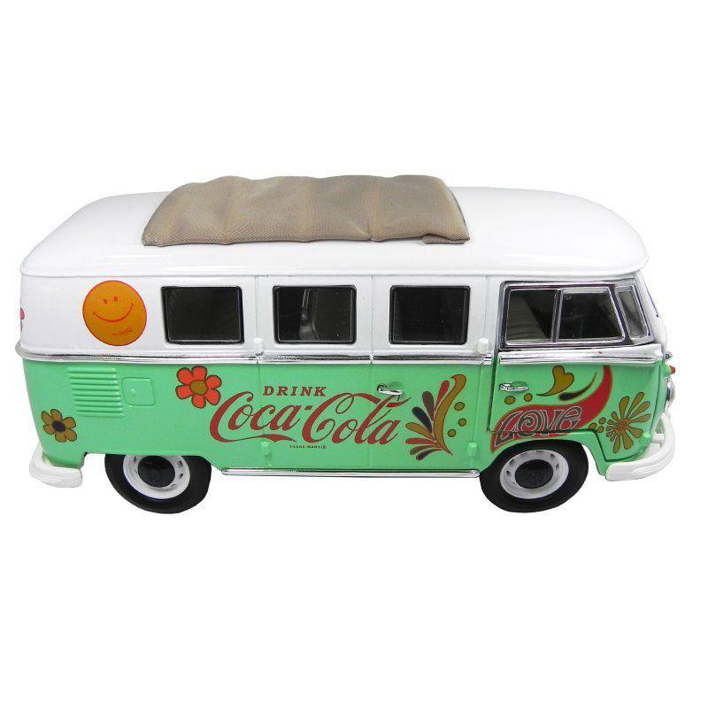 MIniatura Volkswagen Kombi Verde Coca Cola 1962 1/18 Motor City Classics