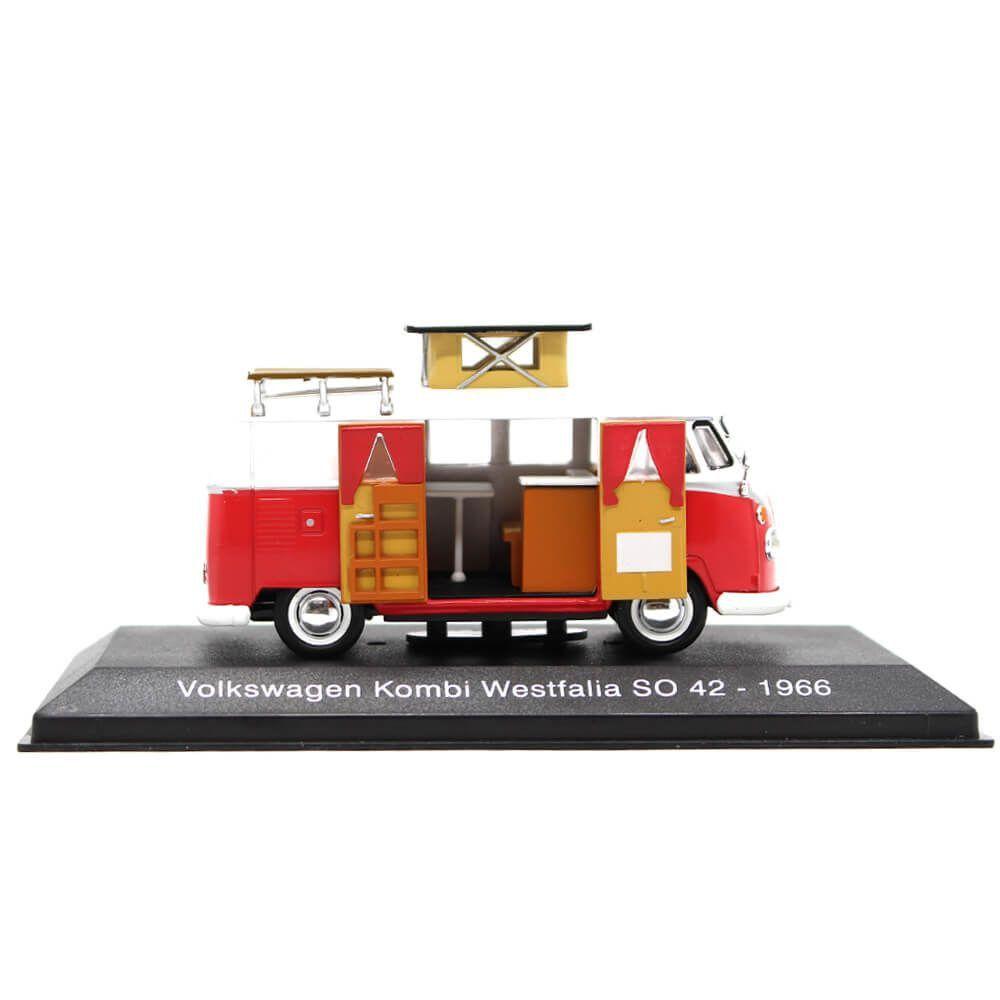 Miniatura Volkswagen Kombi Westfalia SO 42 1966 1/43 Sammlermodell Hachette