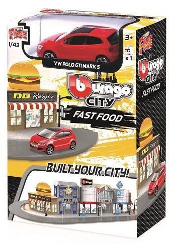 Miniatura Volkswagen Polo Fast Food 1/43 BBurago City