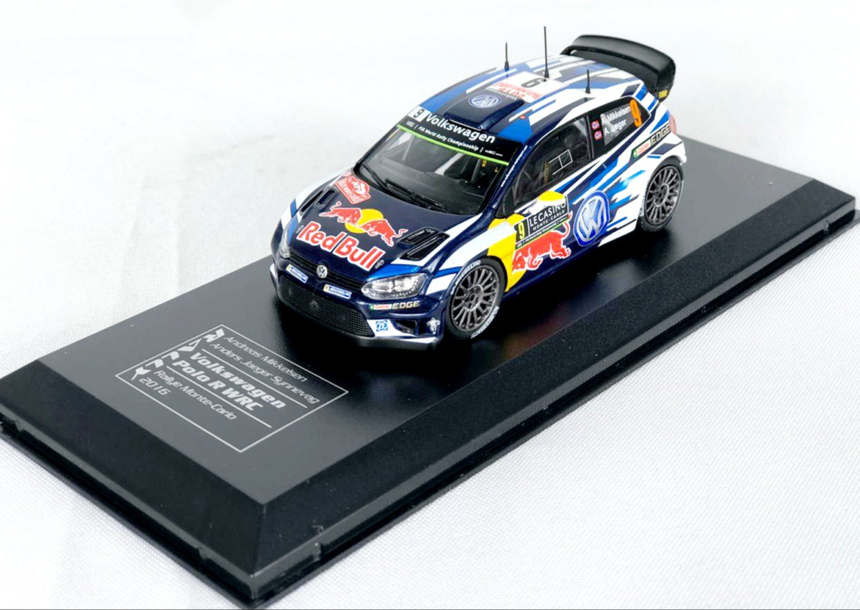 Miniatura Volkswagen Polo WRC Preto  Rally 1/43 Ixo