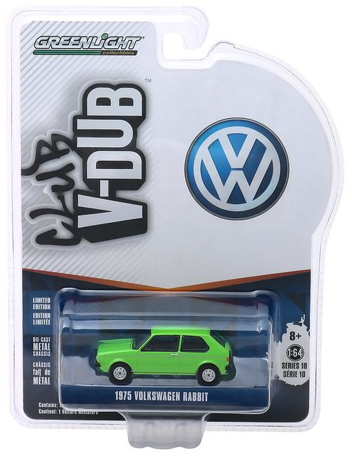 Miniatura Volkswagen Rabbit 1975 V DUBS  1/64 Greenlight