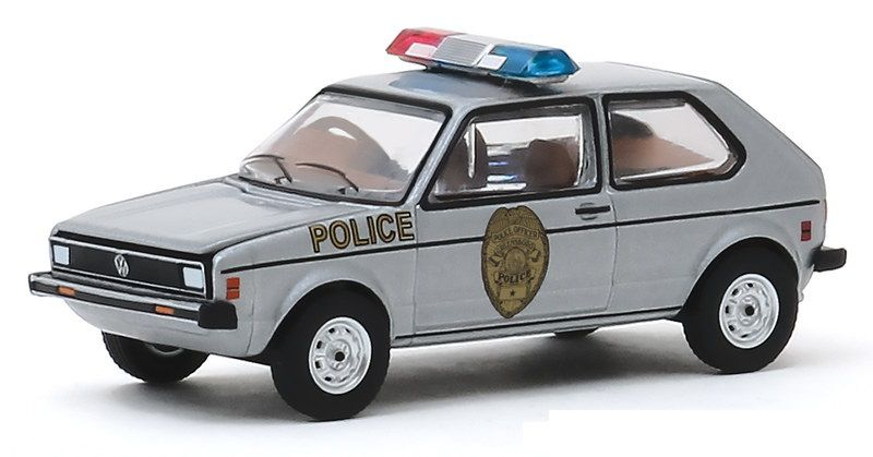 Miniatura Volkswagen Rabbit 1980 Polícia Hot Pursuit 1/64 Greenlight