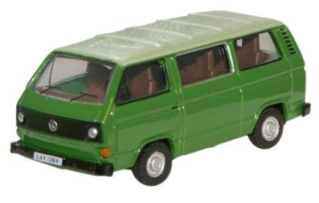 Miniatura Volkswagen T25 Van Green 1/76 Oxford