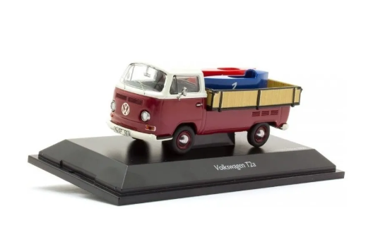 Miniatura Volkswagen T2a Com Carrinhos De Rolimã 1/43 Schuco