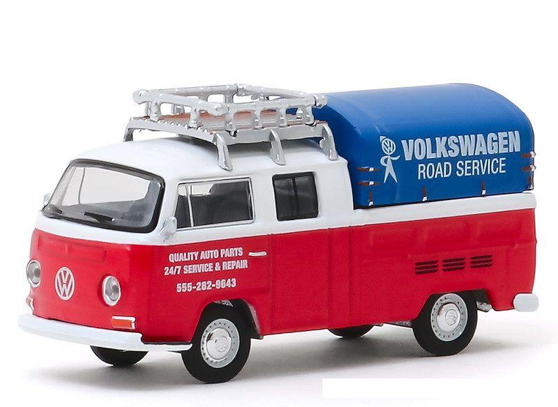 Miniatura Volkswagen Kombi T2 1976 Serviço V DUBS  1/64 Greenlight