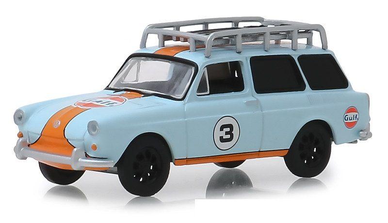 Miniatura Volkswagen Type 3 1965 Gulf 1/64 Greenlight