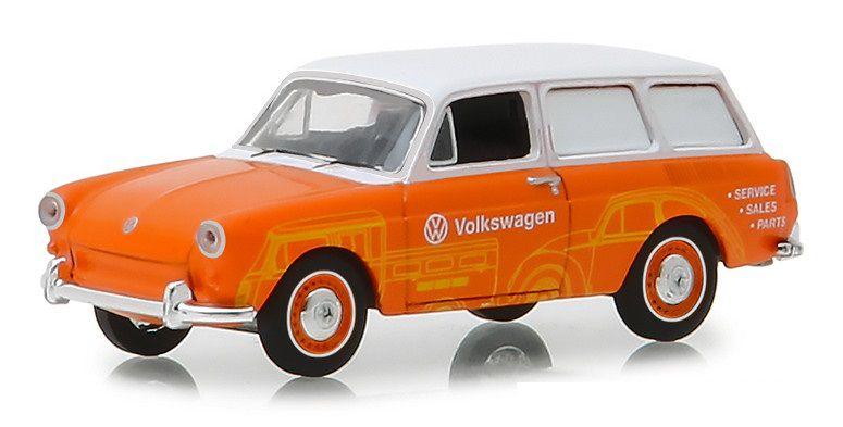 Miniatura Volkswagen Type 3 1966 Sales e Service 1/64 Greenlight