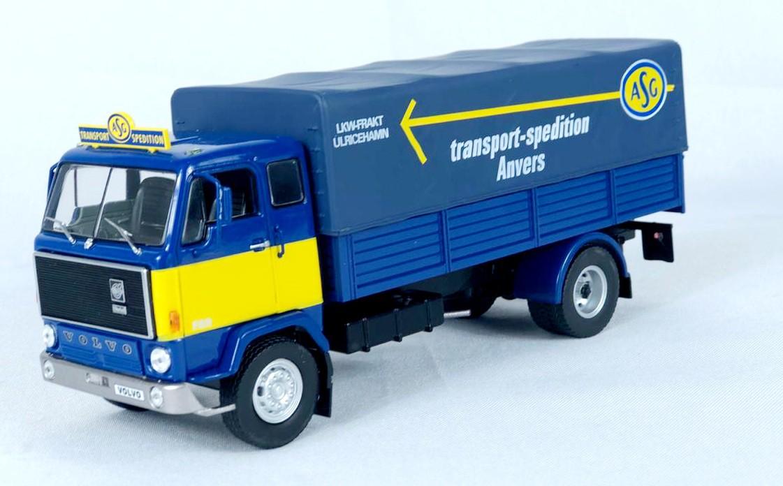 Miniatura Volvo F 89 ASG Transporte DeAgostini 1/43 Ixo
