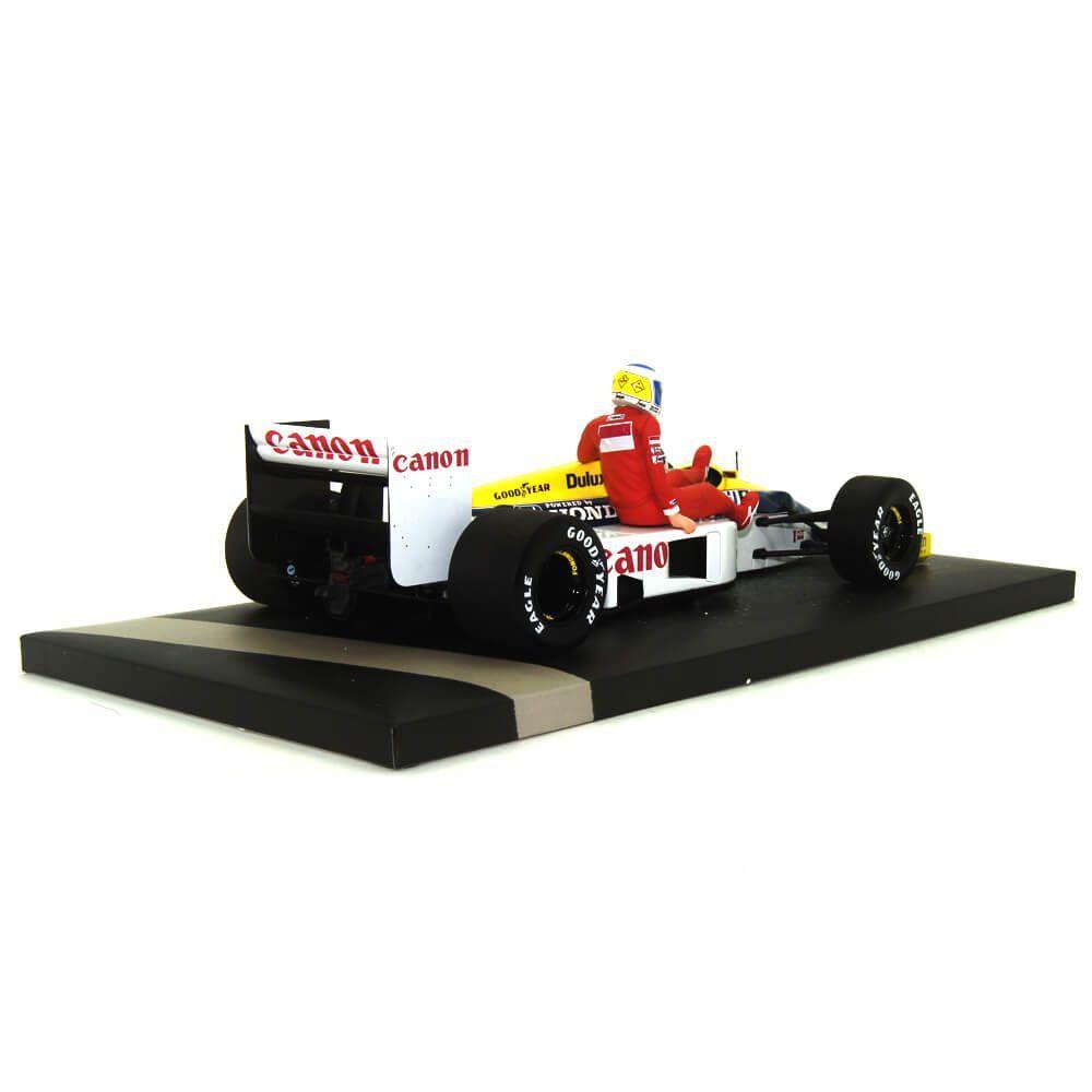 Miniatura Williams FW11 Nelson Piquet Carona Rosberg GP Alemanha 1986 1/18 Minichamps