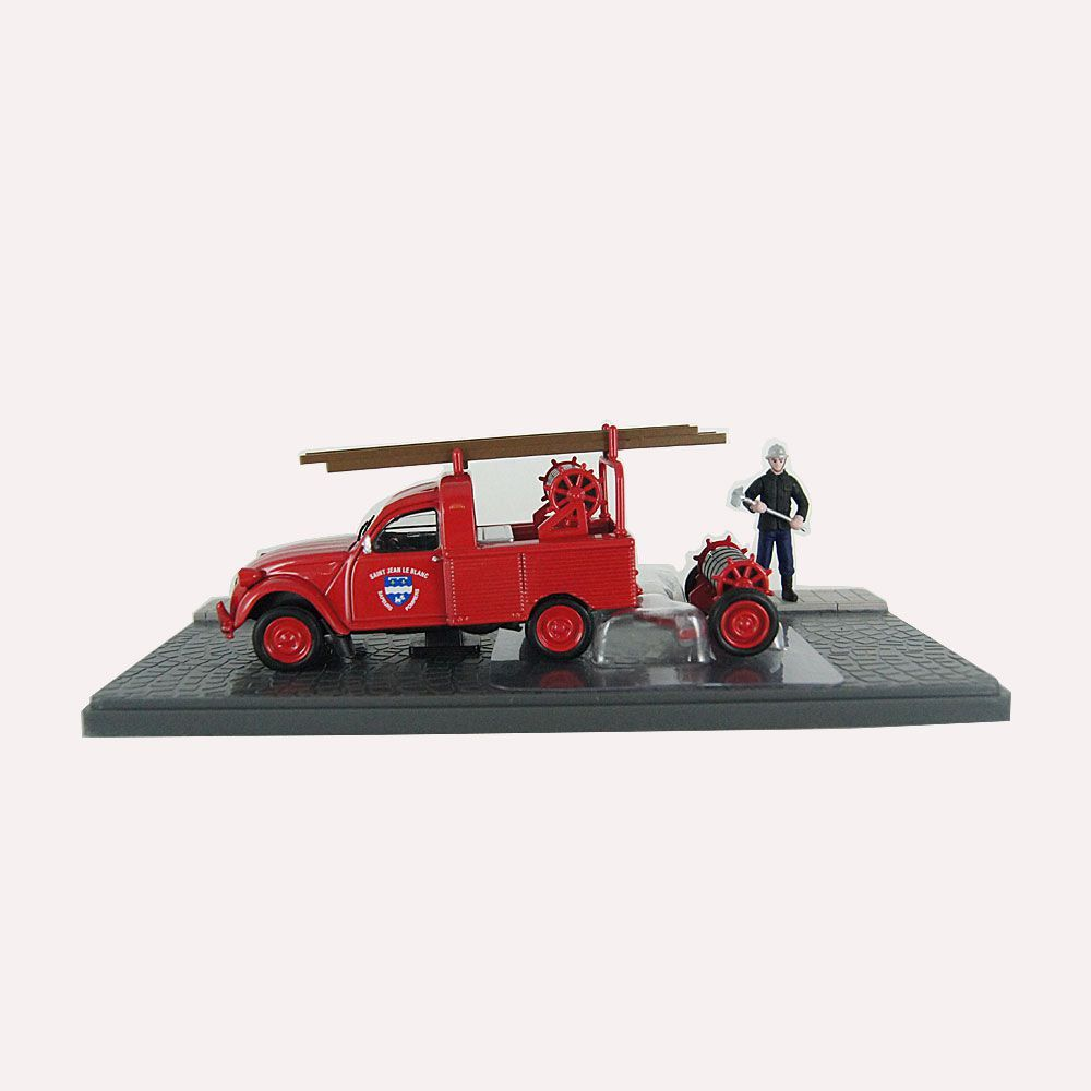 Miniatura Pick-up Citroen 2CV AZU-B bombeiros 1/43 Atlas