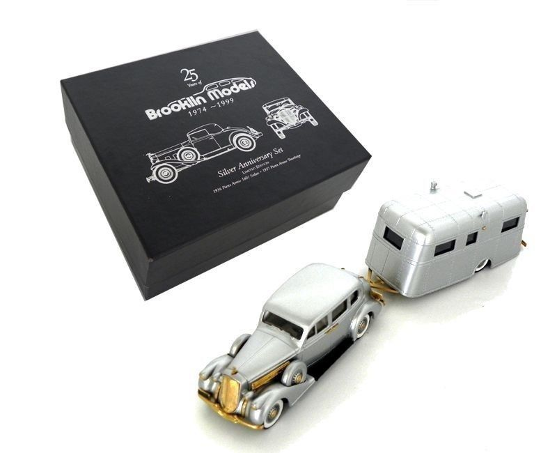 Miniatura Pierce Arrow Silver A. Set 25 years of Brooklin Models 1/43