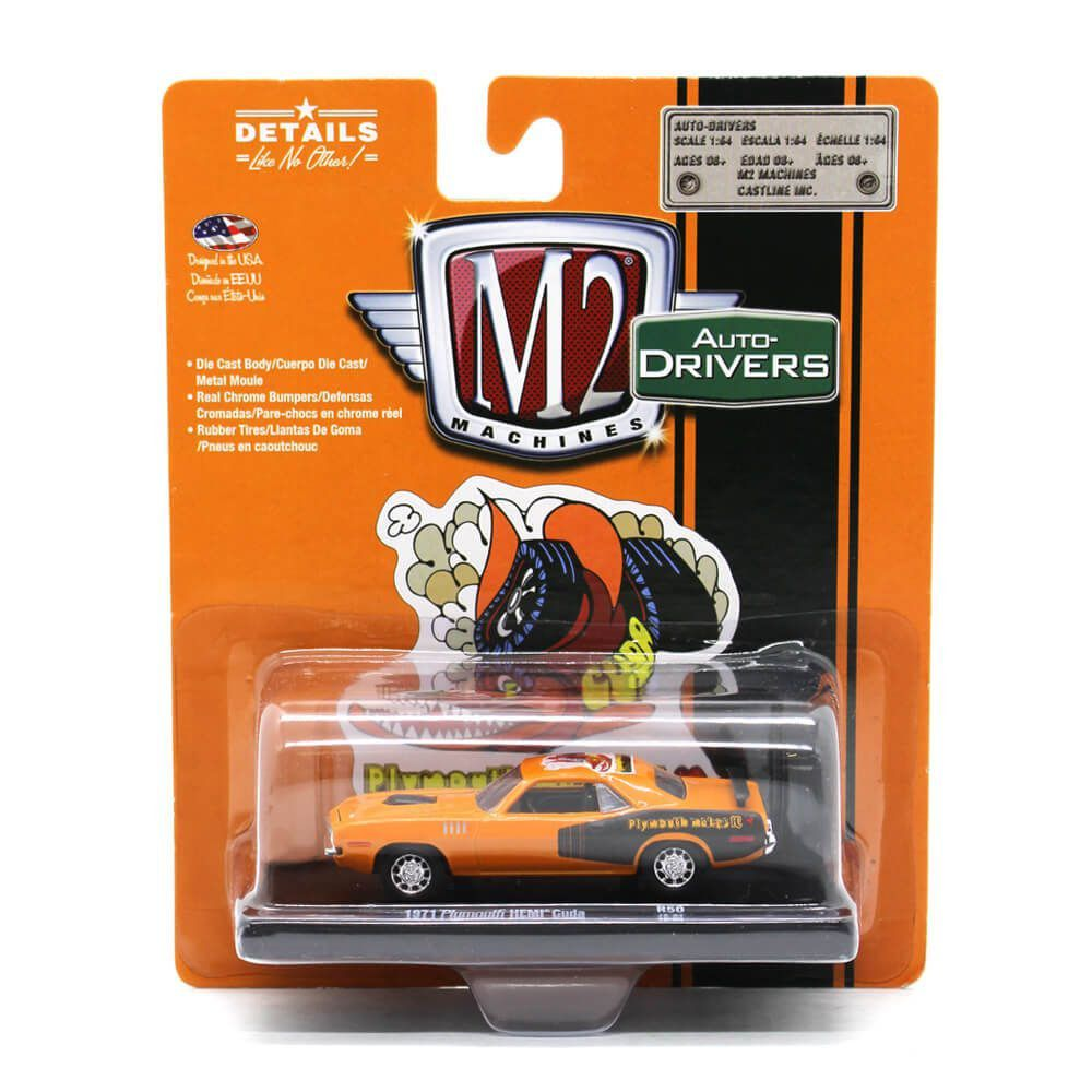 Miniatura Plymouth HEMI Cuda 1971 1/64 M2 Machines Auto Drivers