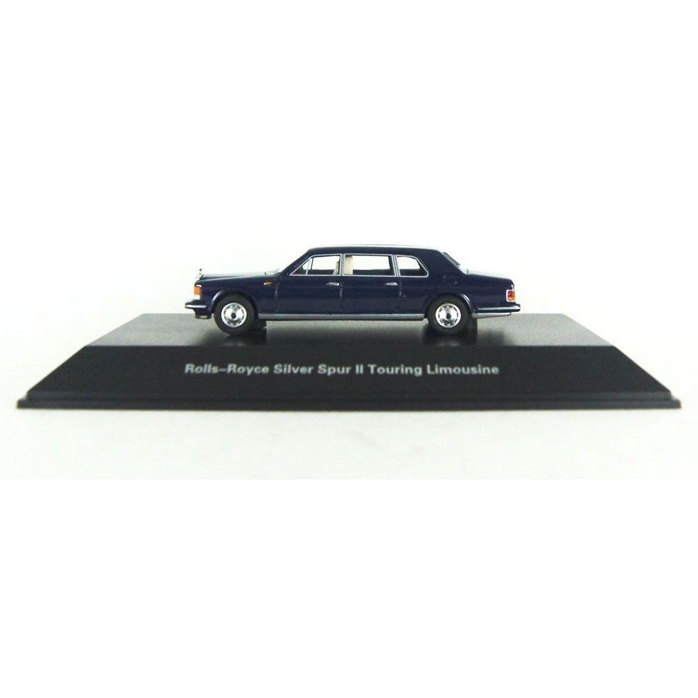 Miniatura Rolls Royce Silver Spur Touring Limouzine azul 1/87 Bos Best of Show