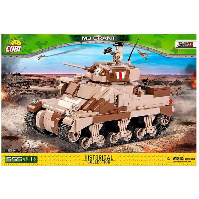 Tank M3 Grant blocos de montar com 555 peças Cobi