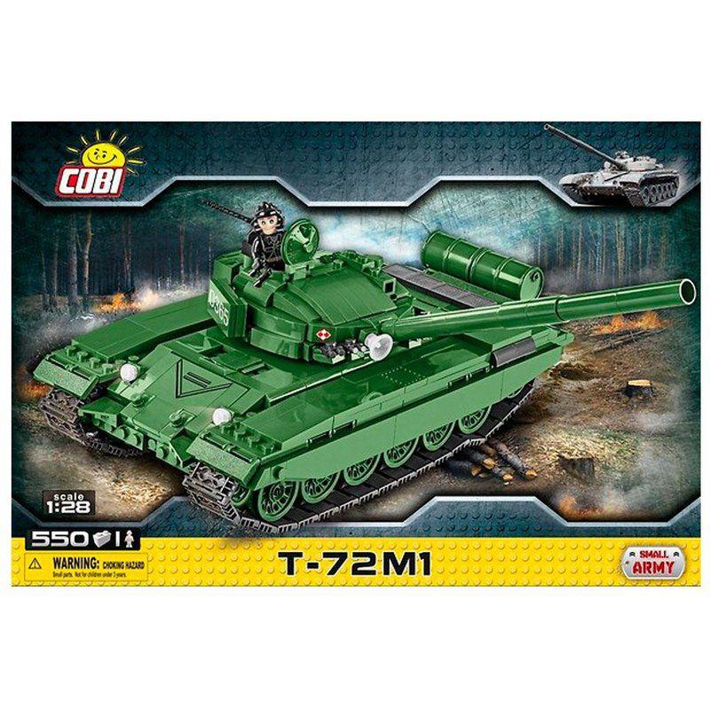 Tank Soviético T72-M1 blocos para montar com 550 Peças Cobi