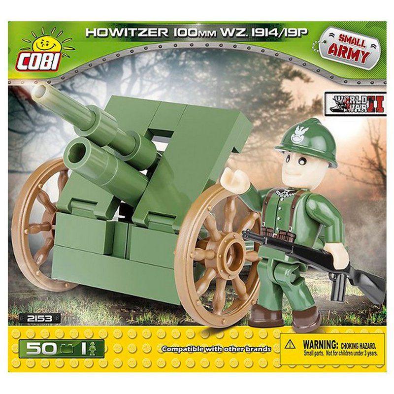 Torreta de Artilharia Polonesa 100MM blocos de montar com 50 peças Cobi