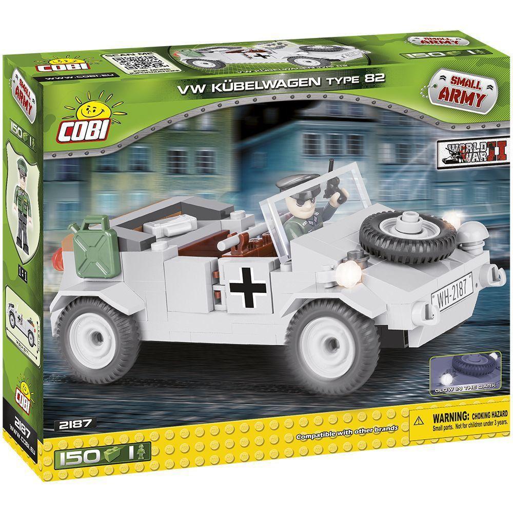 Volkswagen Type 82 Kubelwagen Blocos de Montar 150 Peças Cobi