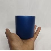 Copo de Vidro Para Vela 265ml Azul- 6 unidades