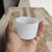 Pote de Vidro Para Vela Patê Branco 150ml - 10 unid.