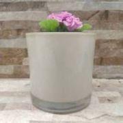 Vaso Cilindrico de Vidro 14x14 Colorido