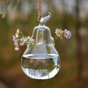 Vaso de Vidro Pendente Pêra Para Flores