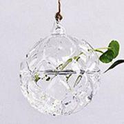 Vaso de Vidro Pendente Pinha Para Flores