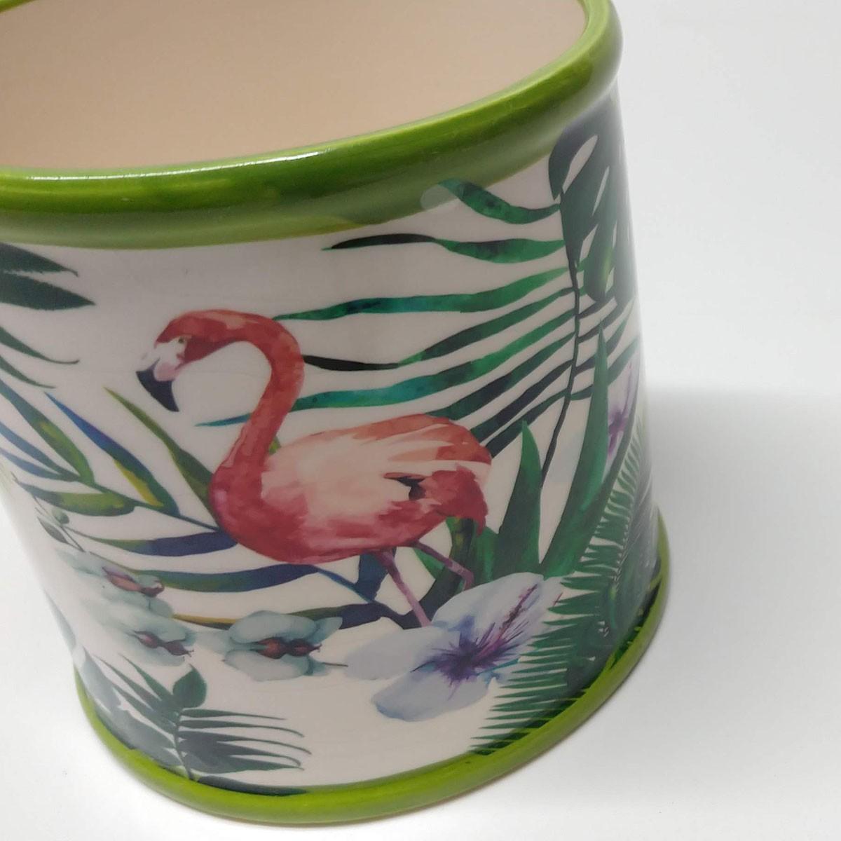 Cachepot Amazônia de Cerâmica Redondo
