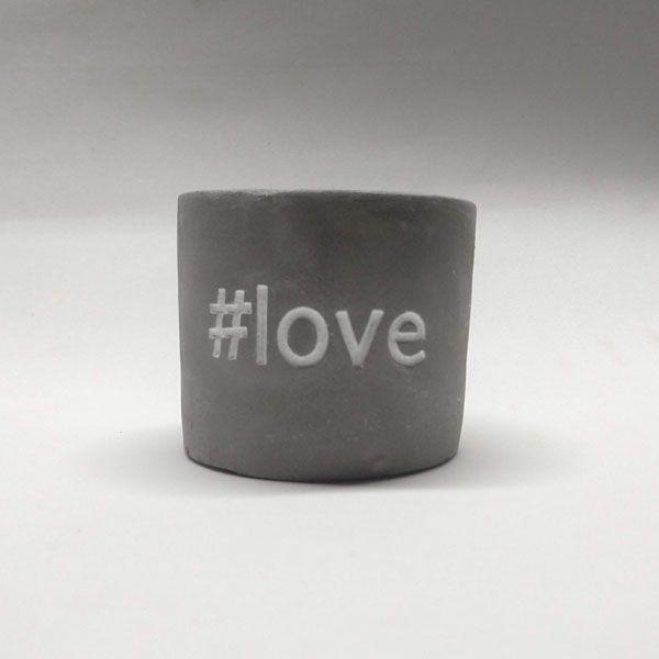 Cachepot de Cimento #Love
