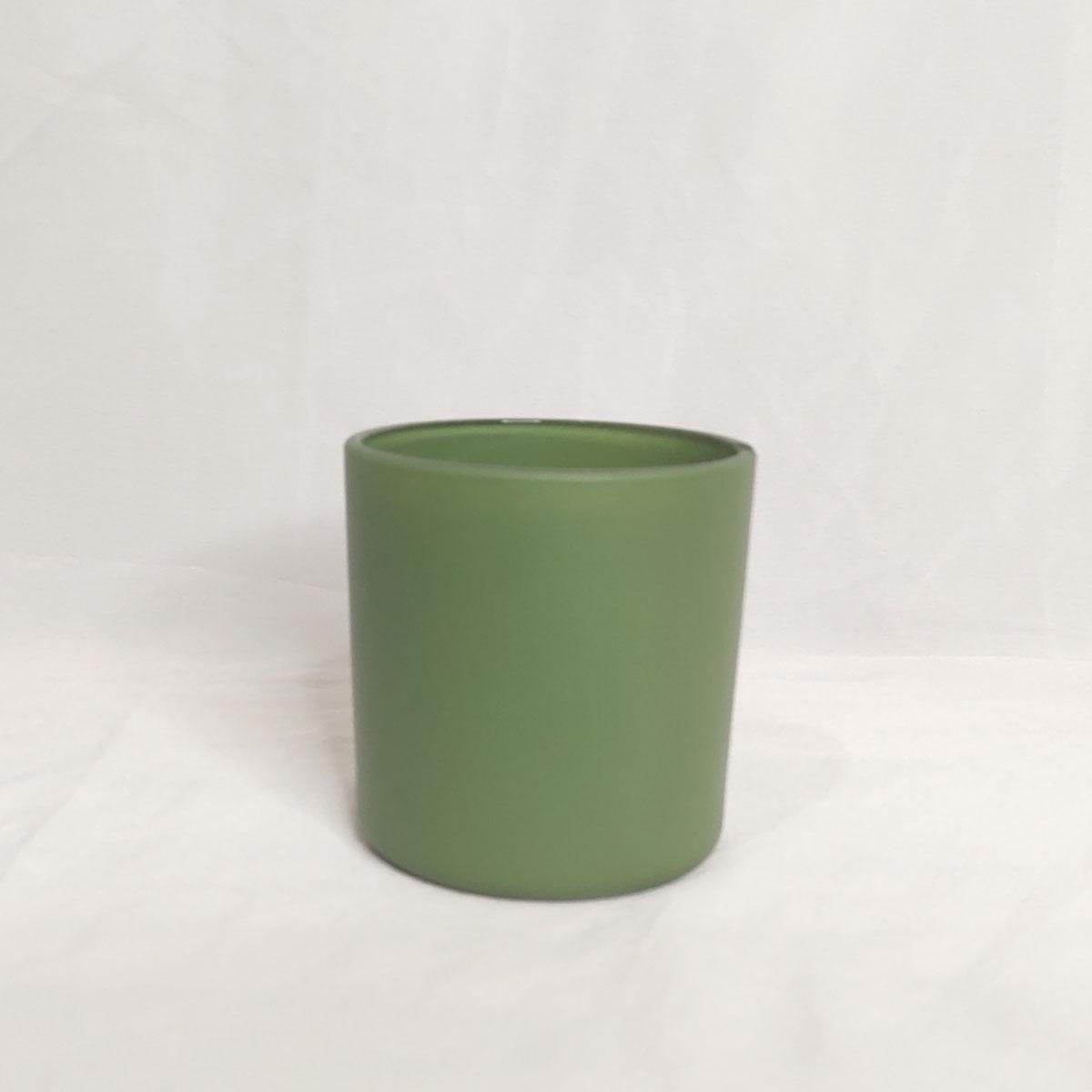 Copo de Vidro Para Vela 265ml Verde- 6 unidades