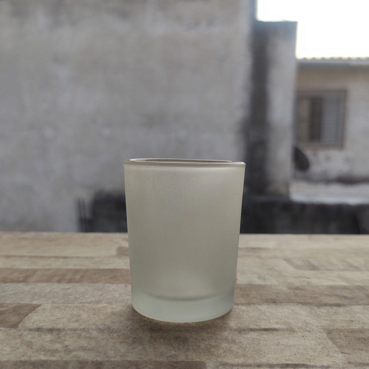 Copo de Vidro Para Vela 70 ml Jateado  - 6 unidades