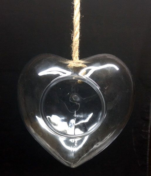 Coração de Vidro Para Terrário