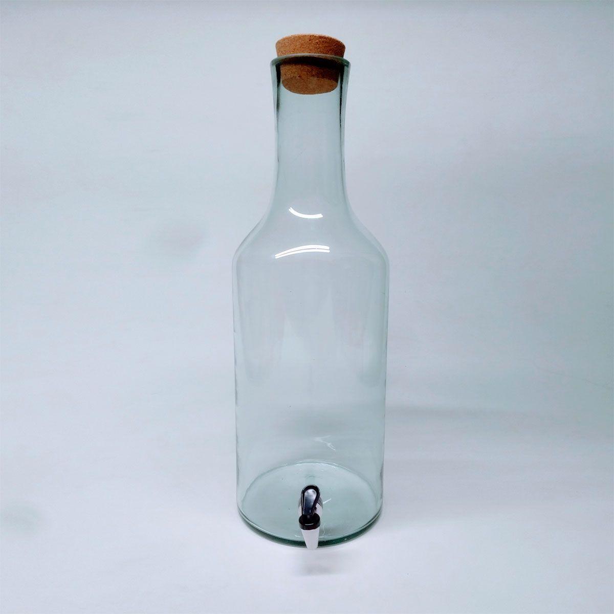 Garrafão de Vidro 15 litros com Torneira - Corote