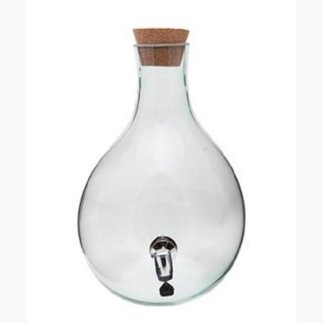 Garrafão de Vidro com Torneira 7,5 litros - Garrafas Decorativas