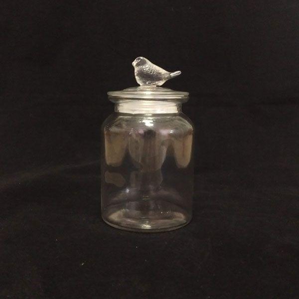 Pote de Vidro Hermético Pássaro