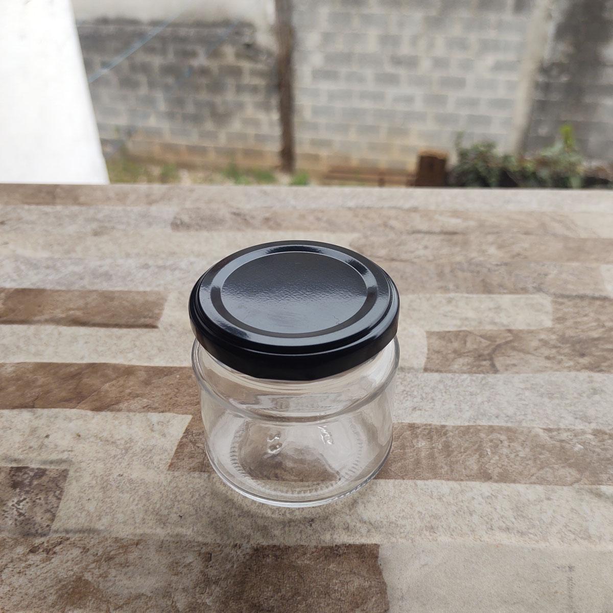 Pote de Vidro Mini Belém 150 ml C/ Tampa - cx 10 uni.
