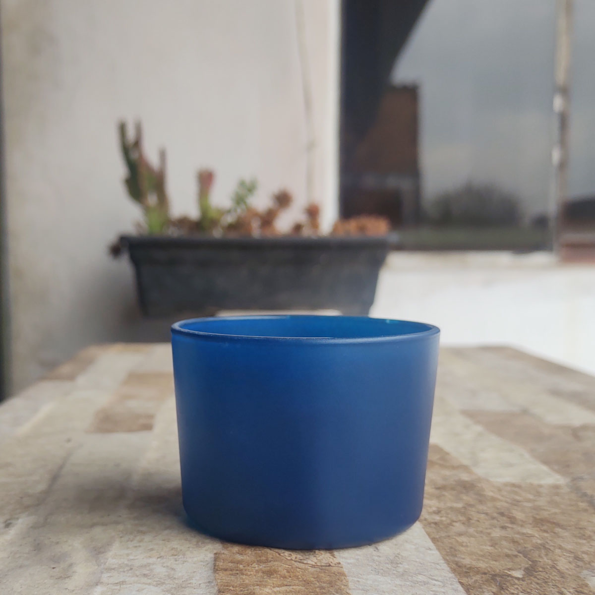 Pote de Vidro Para Vela Patê Azul 150ml - 10 unid.