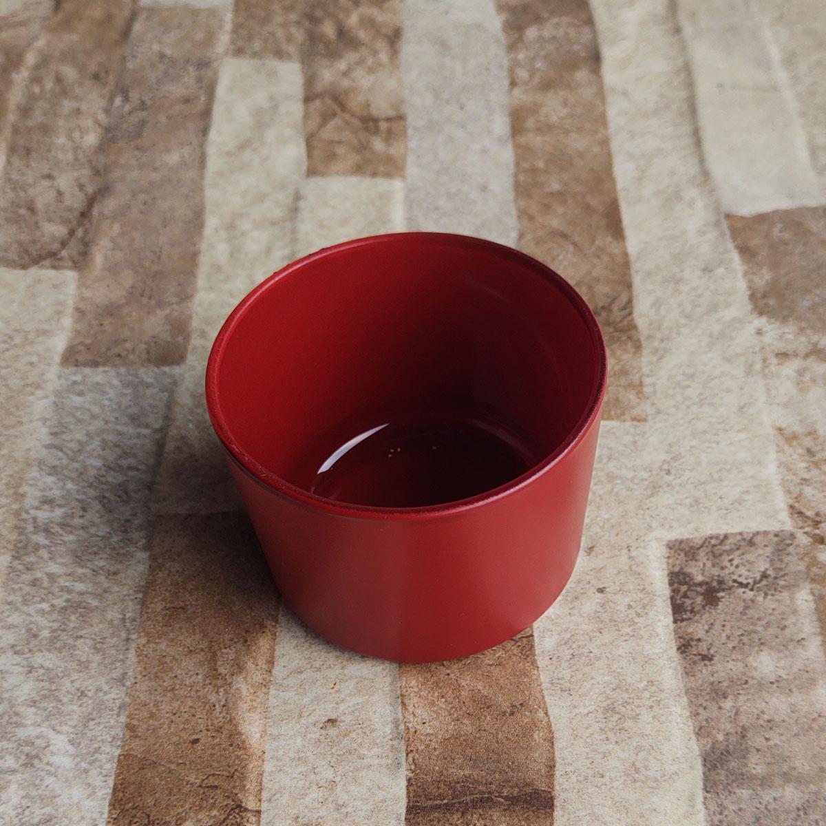 Pote de Vidro Para Vela Patê Vermelho 150ml - 10 unid.