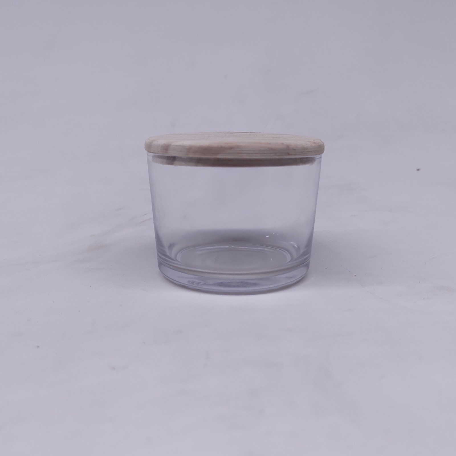 Pote Patê de Vidro Com Tampa de Madeira 150ml - 10 unid.
