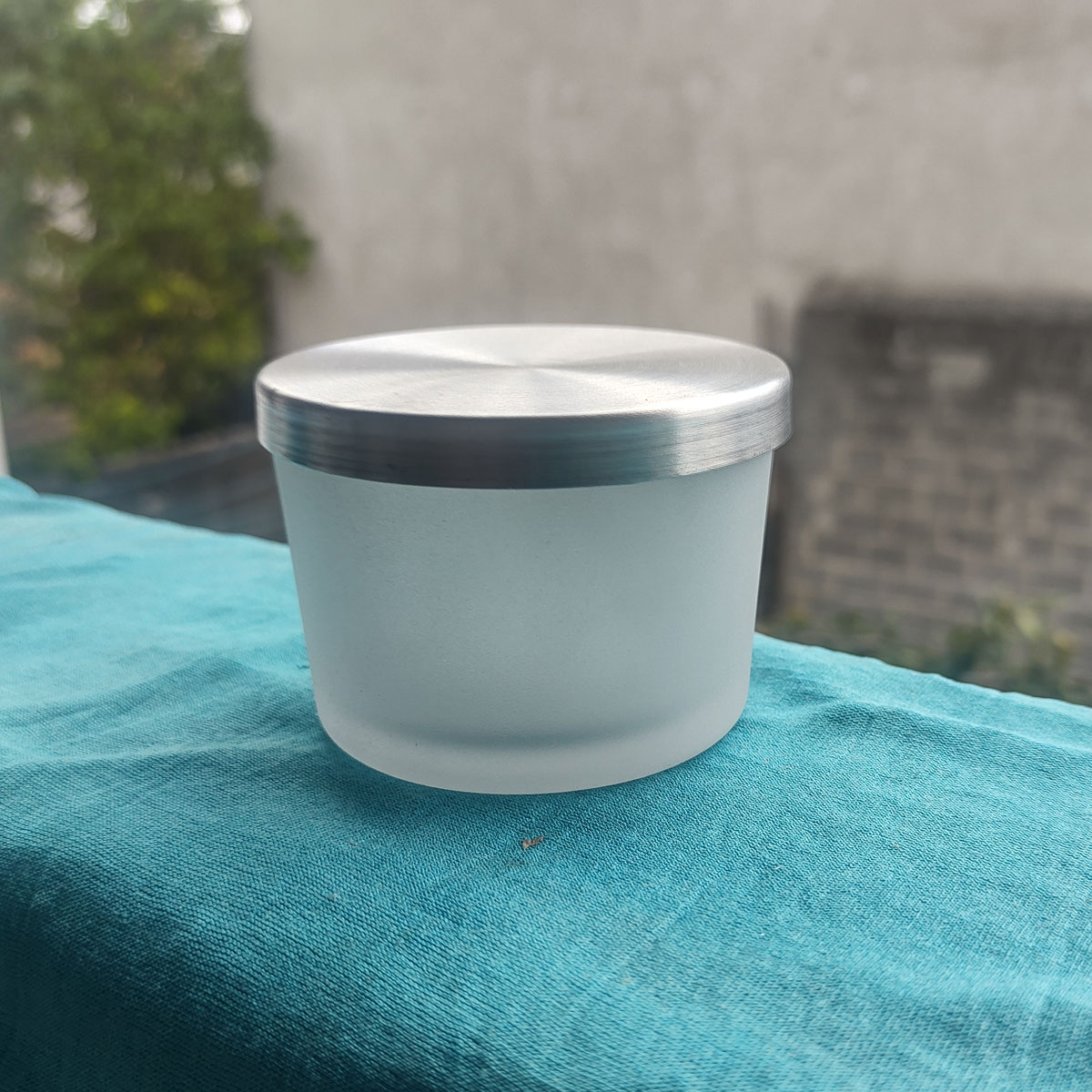 Pote Patê de Vidro Jateado Com Tampa de Aluminio 150ml - 10 unid.