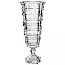 Vaso de Vidro Cristal Square Com Pé