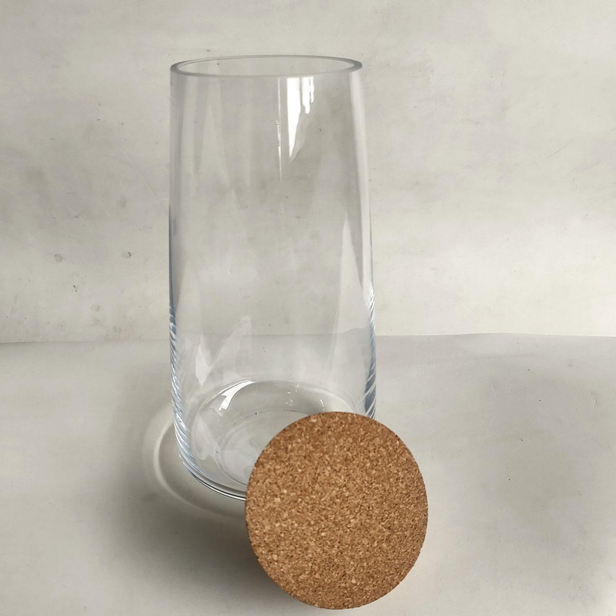 Vaso de Vidro Curva Com Rolha