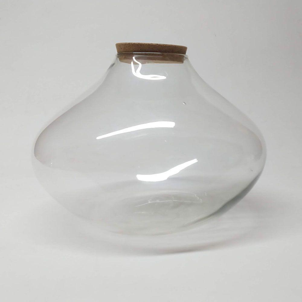 Vaso de Vidro Osaka Com Rolha