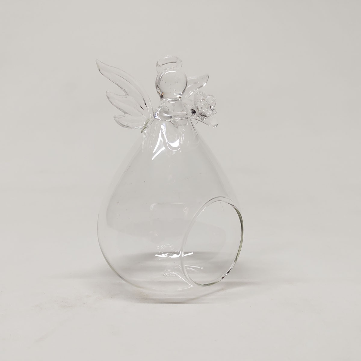 Vaso de Vidro Pendente Anjo Para Terrário