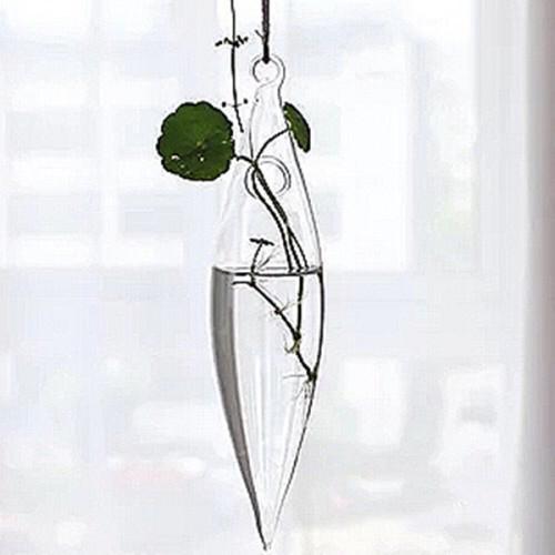 Vaso de Vidro Pendente Arroz Para Flores